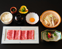 Sukiyaki Gozen (Wagyu beef Sukiyaki meal)