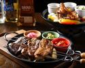 【2時間飲み放題付き】≪炎≫肉コンボのファフィータが主役のMucho course♪オリジナルタコスプレートやメキシコの王道を楽しめる全7品