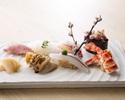 4/1-寿司ランチ「喜」 新鮮素材の本鮪、白身、光り物など握り八貫