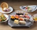 寿司ランチ「倖」 新鮮素材の本鮪、白身、イカなど握り九貫