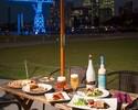 【東京湾を眺められる開放的なテラス席/店内席で春の食材とビールを堪能!!】自社輸入ベルギービール5種付き2h飲み放題春のシーサイドビアガーデンコース