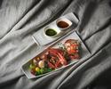 活オマール海老と千葉布施農園産野菜のハーブロースト  甲殻類のエッセンス、バジルピストー、EX ヴァージンオリーブオイル