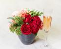 ◆大人/平日【5月末まで★母の日×豪華お花のプレゼント】乾杯酒&感謝を伝えるメッセージ付きディナーブッフェ