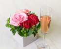 ◆大人/土日祝【5月末まで★母の日×お花のプレゼント】乾杯酒&感謝を伝えるメッセージ付きランチブッフェ