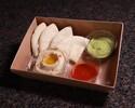 【Girandole】Hummus, tomato salsa, guacamole, pita bread