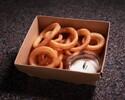 【Girandole】Fried onion rings, rosemary and lemon dip