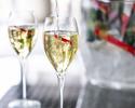 【平日限定シャンパンフリーフローランチ(Wメイン)】シャンパン含むフリーフロー+ 選べる前菜&メインなど全5品