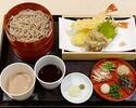 【天ぷら割子そば膳】 ~2色つゆ/割子3段~