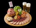土日祝【焼肉食べ放題プラン】肉祭りプレート食べ放題&飲み放題付きビアガーデン