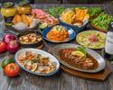 【お食事のみ】熟成豚肩ロース&アクアパッツァなど全8品 ベル豚★ディナーコース+1ドリンクサービス