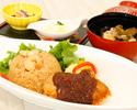 5月ランチメニュー 岡山B級グルメ えび飯とデミカツ