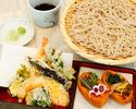 5月ランチメニュー 山菜天ぷらと信州そば
