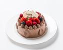 【テイクアウト】チョコレート生デコレーションケーキ 5号