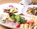 【7月平日WEB予約限定】前菜やサラダを盛合せた特製アンティパストプレート・パスタ・デザート盛合せに食後のカフェ付