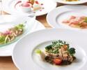 【UvaRara 7月の旬食材の特製ディナーコース『ラ・チェーナ』】前菜2品・パスタ料理・Wメイン・デザート盛合せ等全6品のイタリアンディナー