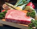 [時差午餐] 1杯飲料和今天的新鮮魚+ A5最好的神戶牛肉套餐
