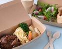 【特選黒毛和牛ハンバーグ】サラダ、温野菜、特製スープ、パン付き(テイクアウト専用プラン)
