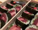 鮪赤身と中トロの海苔巻き寿司