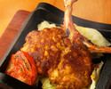 【お食事に・乾杯ノンアルコールスパークリング付き】筑波鶏もも肉一枚スパイシー焼きと炭火焼き鳥など9品3300円(税込)