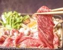 【お食事に】国産黒毛和牛と九条葱のすき焼き×豪華お造り八寸盛りなど11品