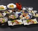 【50%OFF企画!!】名物かつをの藁焼きとかつをの刺身含む3種のお造りの食べ比べができる全13品~初夏半額コース《食事のみ》