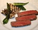 《ディナー》【パリステーキコース】最高級A5山形牛サーロイン&天然真鯛のWメインなど全8品