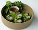 Chicken & vegetables fresh spring rolls