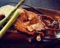 Japanese Black wagyu-beef fillet and Japanese spiny lobster set menu