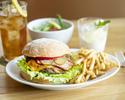 [Lunch] Burger set + Truffle fries + coffee or tea present