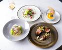 ランチ【前菜&お魚&お肉料理&デザート】全4品+乾杯ドリンク付き