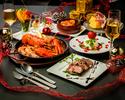 12月【クリスマスケーキ・乾杯スパークリングワイン付】クリスマススペシャルディナーコース7品【お料理のみ】5000円(税込)