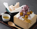 ふわふわミルクかき氷 紅芋【一升枡】