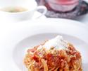 【七五三ランチ】写真撮影・乾杯ドリンク・お子様のお料理無料特典付き!肉or魚から選べるメインや2種類の蟹の名物パスタ等5皿