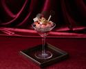 ●【インスタ映え限定パフェが愉しめるランチ ハートの女王のパフェ!前菜・スープ・パスタなど全4品ランチ