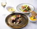 ランチ【前菜&お魚&お肉料理&デザート】全4品+フリーフロー