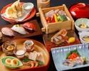≪個室確約≫ 旬魚の握りとすきやきの会席10品9350円(税込)