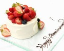 【Anniversay&Birthday Cake】(12cm/5~7名様用/¥3,200込別)