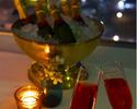 【レイトXmas2021】<聖夜B> ベビーシャンパン付!神戸牛・オマール海老や鮮魚ほかクリスマス特別コース!