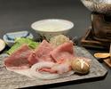 たらば蟹と山形牛白すき鍋膳.